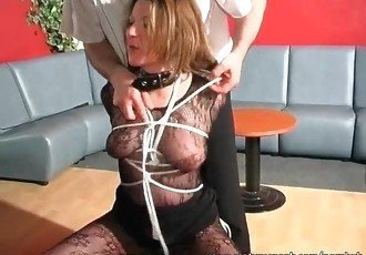 It seems like she enjoys this BDSM