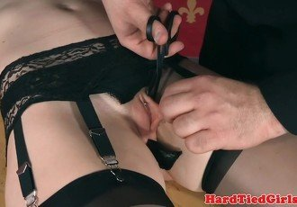 Tied BDSM submissive analfucked