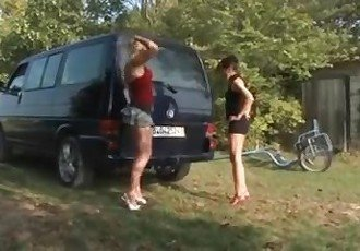 Girl Fucks Car Exhaust