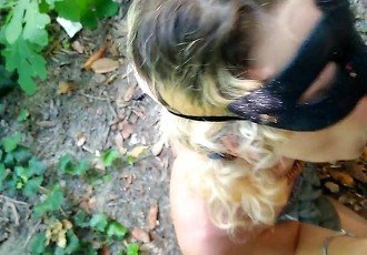 Teen slave  public blow job