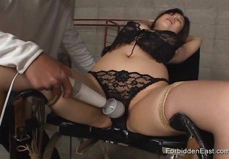 Gorgeous Oriental finger fucked and