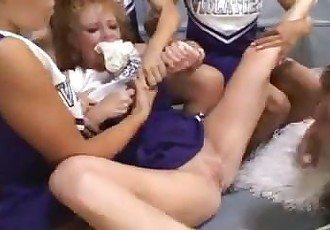 cheerleader bitch rougth dildo