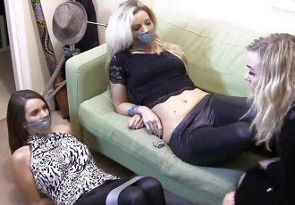 Two girls duct taped and gagged by