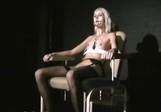 Blonde submissives bizarre facial