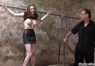 Filthy slaveslut whipping and dirty