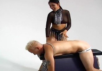 Blonde Male Billy Tied And Spanked