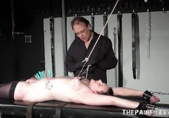 Amateur slaves intense torture and