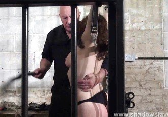 Whipped tits and rigid spanking of