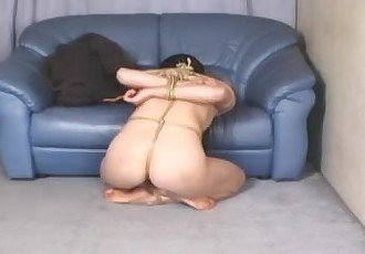 Nude Japanese Lady in Rope Bondage