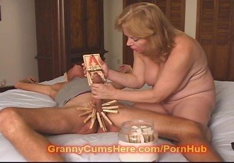 Mean GRANNY makes him BITCH