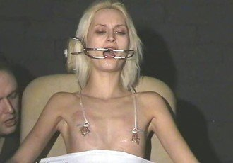 Cruel amateur bdsm and needle tit
