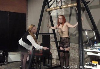 Lesbian play piercing punishment