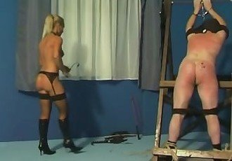 Caning and whipping by mistress