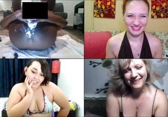 3 cam models and whipped cream in
