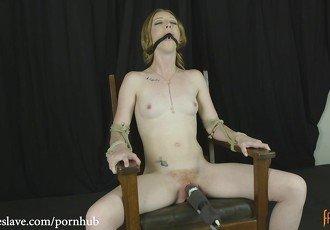 Katy Kiss Gagged, Chair Tied and