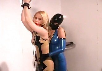 The brutal training naive blond