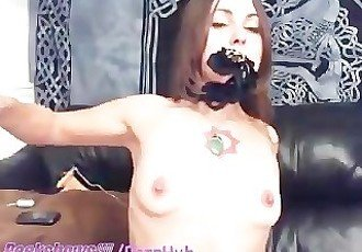 Hippy Chick Whips Her Pussy And